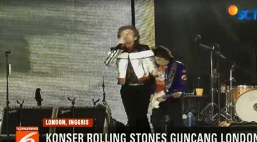 """Mick Jagger dan rekan rekannya tampil dalam rangka tur """"No Filter"""" yang akan berlangsung hingga Juli mendatang."""