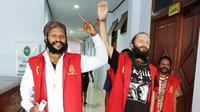 Jakub Fabian dan Simon Magal, terpidana makar di Papua. (Liputan6.com/ALDP/Katharina Janur)