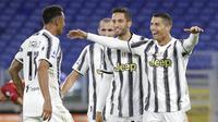 5. Juventus - Bianconeri merupakan klub yang paling sering dibobol Cristiano Ronaldo di Liga Champions. Dari tujuh pertandingan melawan Si Nyonya Tua, Ronaldo berhasil mencetak 10 gol. (AP/Gregorio Borgia)