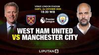 Banner West Ham United vs Manchester City. (foto: Triyasni)