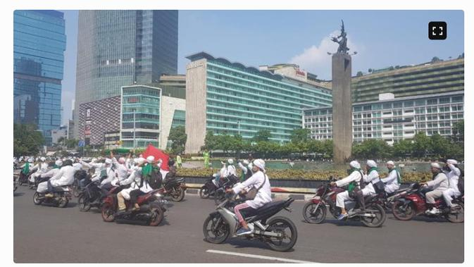 penelusuran klaim video rombongan bermotor FPI saat demonstrasi 13 Oktober 2020