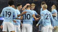 Manchester City menang 2-1 atas Newcastle United, di Stadion Etihad, Minggu (21/1/2018) dini hari WIB. AP Photo/Rui Vieira)