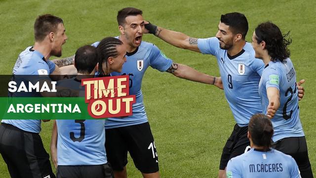 Berita video Time Out tentang Uruguay yang menyamai rekor Argentina di Piala Dunia.