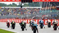 Ilustrasi balapan MotoGP. (Crash)