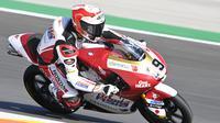 Andi Gilang pada balapan Moto3 Portugal di Sirkuit Portimao, hari Minggu (18/04/2021). (Honda Team Asia)