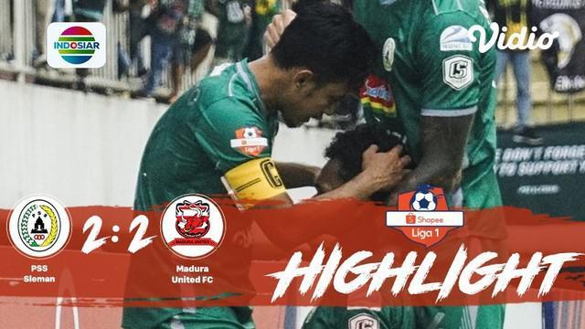 Laga lanjutan #shopeeliga1, #PSS Sleman vs #Madura United pada hari Minggu sore (29/09/2019) berakhir  dengan skor imbang 2-2.