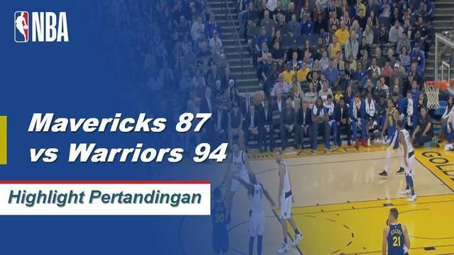 Kevin Durrant menyelesaikan dengan 29 poin, 12 rebound dan 8 assist sebagai Warriors mengalahkan Maverricks