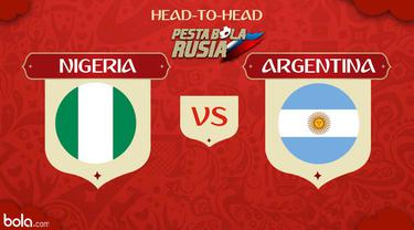 Berita video head-to-head Piala Dunia Rusia 2018: Nigeria vs Argentina.