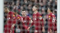 Liverpool meraih kemenangan telak atas Southampton di Anfield Stadium. (AP Photo/Jon Super)