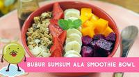 Bagi Anda pecinta makanan manis, coba buat sendiri resep hidangan penutup yang berbeda, Bubur Sumsum ala Smoothie Bowl. (Foto: Kokiku Tv)