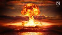 Bom Nuklir yang diledakkan pada zaman dahulu. (Keystone/Getty Images/Mentalfloss)