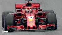 Sebastian Vettel, mengukir waktu lap tercepat pada latihan bebas ketiga F1 GP Austria di Sirkuit Red Bull Ring, Sabtu (30/6/2018). (Twitter/F1)
