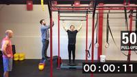 Adam Sandel meraih rekor dunia untuk pull up terbanyak dalam 1 menit (Guinness World Records / YouTube)