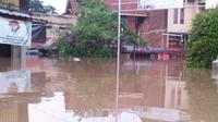 Banjir merendam 9.285 rumah di wilayah Kabupaten Bandung, Jawa Barat, Selasa (31/3/2020). (Liputan6.com/ BNPB)