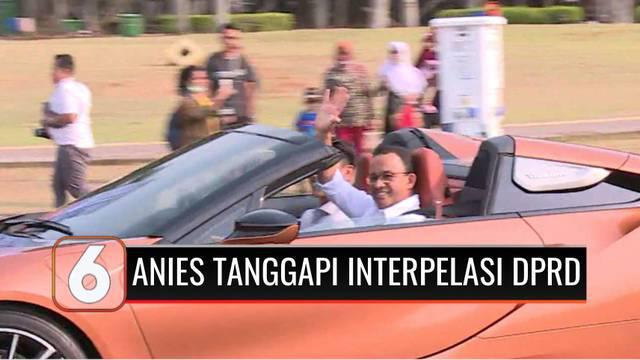 Gubernur DKI Jakarta, Anies Baswedan mempersilakan anggota DPRD melanjutkan proses interpelasi terkait gelaran Formula E. Anies mengatakan, kini dirinya hanya berfokus menangani dampak Covid-19 terhadap warga ibu kota.