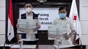 Kadin Indonesia dengan Palang Merah Indonesia (PMI) melakukan penandatangan nota kesepahaman dengan PMI tentang Pendonor Plasma Konvalesen.