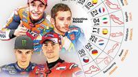 Infografis Jadwal MotoGP (Liputan6.com/Trie yas)