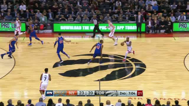 New York Knicks alami kekalahan 84-107 dari Toronto Raptors.