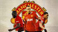 Manchester United - Romelu Lukaku, Dimitar Berbatov, Anthony Martial (Bola.com/Adreanus Titus)