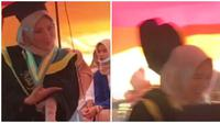 Aksi wanita ini justru bikin ngakak di acara wisudanya. (Sumber: TikTok/@nadya.aprl13)
