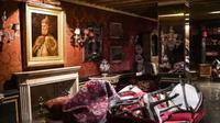 "Sebuah kamar di  Gritti Palace yang terendam banjir air pasang ""Alta Acqua"" yang luar biasa di Venesia. (AFP)"