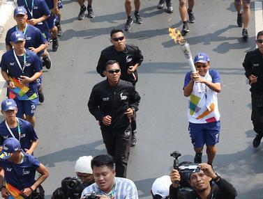 Kirab Obor Asian Games Mulai Berkeliling di Jakarta