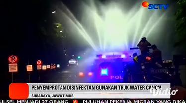 Polisi resmi menutup Jalan Darmo dan Tunjungan di Surabaya selama tiga hari ke depan dalam waktu-waktu tertentu. Kapolda Jatim Irjen Luki Hermawan menyebut dua kawasan tersebut merupakan paling banyak terjangkit penyebaran virus corona di Kota Pahlaw...