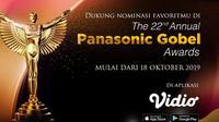 Dukung Nominasi Favoritmu di The 22nd Annual Panasonic Gobel Awards di Aplikasi Vidio. Sumberfoto: Vidio