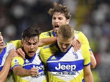 Juventus akhirnya meraih kemenangan perdana di pentas Serie A 2021/2022. (AP/Tano Pecoraro)