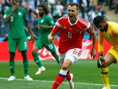 Rusia Menang Telak 5-0 Atas Arab Saudi