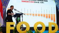"""Menteri Pertanian Syahrul Yasin Limpo di Kick Off Food Estate Petani Bela Negeri"""" Agrosolution di Pamulutan, Ogan Ilir, Sumatera Selatan, Jumat, 28 Mei 2021."""