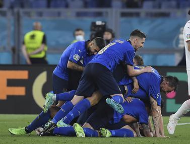 Foto Piala Eropa: Gasak Swiss 3-0, Italia Jadi Tim Pertama yang Lolos ke Babak 16 Besar Euro 2020