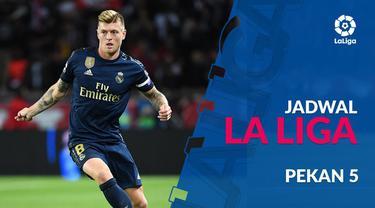 Berita video jadwal La Liga 2019-2020 pekan ke-5. Real Madrid bertandang ke Markas Sevilla, Senin (23/9/2019).