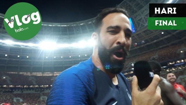 Berita video VLOG Bola.com kali ini tentang keseruan baik sebelum, saat, dan sesudah Final Piala Dunia 2018.