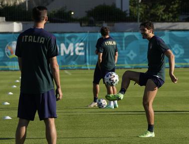 Sesi Latihan jelang Euro 2020 Italia Vs Swiss