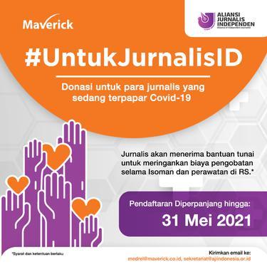 Program #UntukJurnalisID. Dok Maverick dan AJI