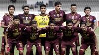 Skuat PSM jelang menjamu Shan United dalam laga kedua Grup H Piala AFC 2020 di Stadion Madya, Jakarta (26/2/2020). (Bola.com/Yoppy Renato)