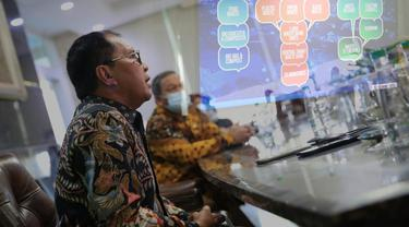 Wali Kota Makassar Danny Pomanto paparkan program Bank Sampah dalam forum APEC (Liputan6.com/Istimewa)