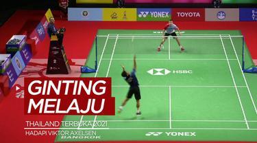 Berita video salah satu tunggal putra Indonesia, Anthony Ginting, akan menghadapi wakil Denmark, Viktor Axelsen, di semifinal Thailand Terbuka 2021, Jumat (15/1/2021).