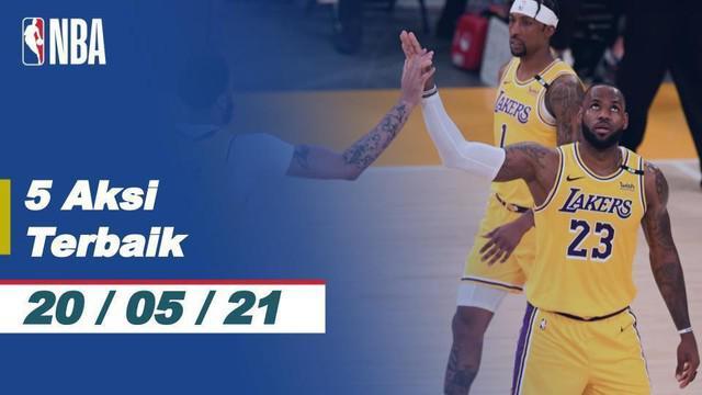 Berita Video 5 Aksi Terbaik NBA 20 Mei 2021, Salah Satunya Three Point Memukau dari LeBron James