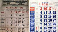 Kalender 1971 dan 2021 (Sumber: Twitter/@arbainrambey/@bne_w)
