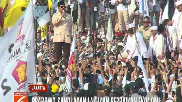 Prabowo-Sandi berharap kehadiran para pendukung yang sangat banyak ini dapat mengantarkan kemenangan untuknya pada pilpres mendatang.