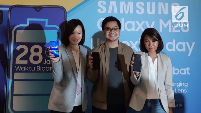 Galaxy M20 resmi meluncur di Indonesia. Liputan6.com/ Agustin Setyo Wardani