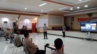 Kapolda Sulut memimpin sertijab Wakapolda, Direskrimsus dan Kapolresta Manado, Selasa (19/05/2020).
