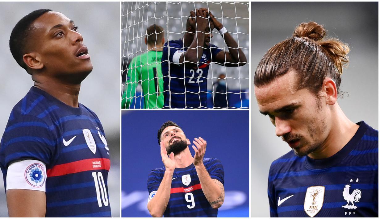 Para pemain Prancis tak mampu menutupi rasa kecewa usai menelan kekalahan di kandang sendiri saat menjamu Finlandia pada laga uji coba di Stade de France. Finlandia sukses membungkam Antoine Griezmann dkk dengan dua gol tanpa balas.