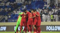 Timnas Indonesia kalah 0-5 dari UEA pada Kualifikasi Piala Dunia 2022 di Stadion Al Maktoum, Kamis (10/10/2019). (PSSI).