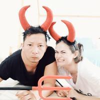 Ringgo Agus Rahman dan Sabai Morschek. (Foto: instagram.com/ringgoagus)