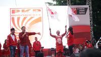 Ketua Umum PKPI Diaz Hendropriyono beraksi dalam kampanye terbuka di Tangerang Selatan, Banten, Sabtu (6/4/2019). (Ist)