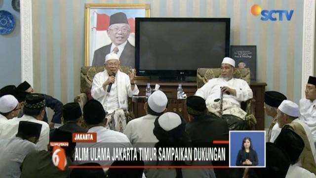 Di penghujung acara, mereka menyampaikan dukungan kepada pasangan Capres-Cawapres Jokowi-Ma'ruf.