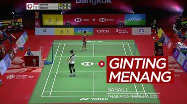 Berita video highlights kemenangan Anthony Gintang dan beberapa atlet bulutangkis Indonesia lainnya pada babak I Thailand Terbuka 2021, Selasa (12/1/2021).